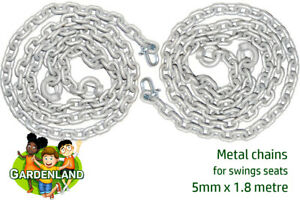 Metal swing seat chains
