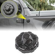 Carbon Fiber Grian Antenna Base Cover Trim Decor For Jeep Wrangler 2007-18 Jl Jk