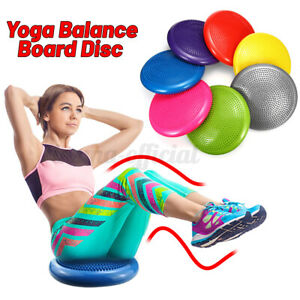 Yoga Stability Balance Cushion Board Exercise Fitness Pad Ball Air Training  W!