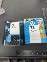 2 HP 78 Tri-Color Ink Cartridge New Genuine Sealed Box Expired 8/10