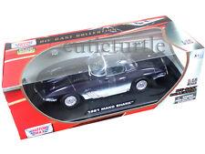 Motormax 1961 Chevrolet Corvette Mako Shark 1:18 Diecast Model Car Blue 73102