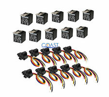 10X Car Audio Bosche Style Relay with Wire Harness Socket RL3040 12V 30/40 AMP