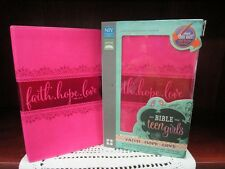 NIV Bible for Teen Girls: Growing in Faith Hope & Love-Pink Leathersoft NEW! 783