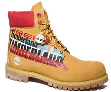 Timberland Mens 6 Inch Graphic Limited Premium Leather Boots Wheat Red A2EC8