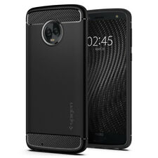 Motorola Moto G6 / G6 Plus | Spigen® [Rugged Armor] Black Slim TPU Cover Case