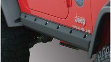 Bushwacker Trail Armor Pocket Style Rocker Panel Black 97-06 Jeep Wrangler TJ