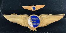 Eaa~Experimental Aircraft Association Aviator Pilot Wings-Metal Pin Back Set