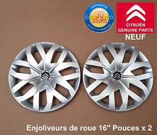 """Citroen enjoliveurs de roue 16"""" DS4 DS5 C4 C5 Picasso Cactus Jumpy Pouces X 2"""