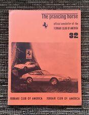RARE VINTAGE #32 1971 Prancing Horse Magazine: Ferrari Club of America