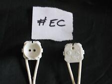 5 X Soporte para Lámpara Fluorescente T5 Cable 200cm Lead Blanco Trabajo Lote Reino Unido Vendedor #EC