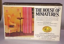 1/12 QUEEN ANNE CANDLE STAND KIT #40013 THE HOUSE OF MINIATURES NEW SEALED