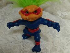 "troll doll Hasbro 1992 twist waist battle  ninja  green eyes green  hair 5"""