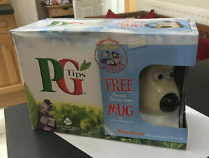PG TIPS WALLACE & GROMIT COLOUR CHANGE THERMAL NOSE MUG BOXED