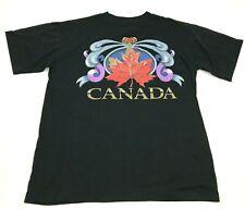 VINTAGE Canada Shirt Size Medium M Black Tee Short Sleeve Adult Men's Top 90's