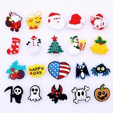 20pcs Shoe Charms Christmas/Halloween Shapes Decorations fit Bracelet kids Gifts