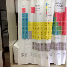 Periodic Table of the Element Waterproof Shower Curtain 12 Hooks Bathroom Fabric