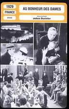 FICHE CINEMA : AU BONHEUR DES DAMES - Parlo,Brabant,Duvivier 1929