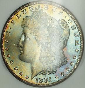 1881-S Morgan $1 Silver Dollar NGC MS-65 Semi Proof Like & Toned