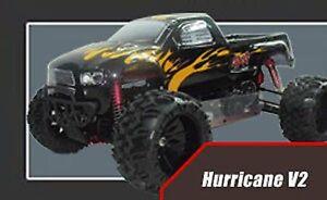 HURRICANE V2 MONSTER TRUCK VRX MOTORE A SCOPPIO DA 30cc RADIO 2.4gHz 1:5 4WD RTR
