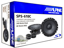 "ALPINE SPS-610C 6.5"" COMPONENT 2-WAY CAR SPEAKER SYSTEM PAIR NEW SPS610C 6 1/2"""