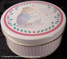 Circa 1990 Precious Moments May your season be blessed Holiday Tin Spc111