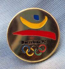 PIN BARCELONA'92 LOGO REDONDO DORADO. IMPECABLE