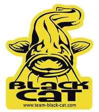 Black Cat 90x75 mm Aufkleber Waller Wels Catfish Sticker Siluro