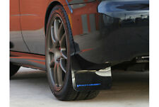 Rally Armor 02-07 Subaru WRX /STI /RS /2.5​i UR Black Mud Flaps Kit w/ BLUE Logo