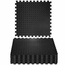 TecTake Tapis de Protection de Sol - 12 Pièces - Noires (402255)