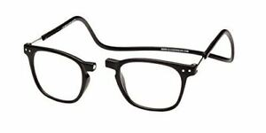 Clic Manhattan in Black+2.00 Magnetic Reading Glasses Front Closure Neck Hanging