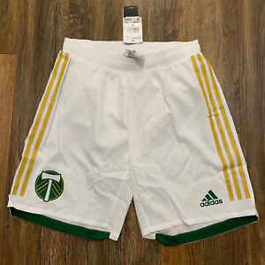ADIDAS MLS PORTLAND TIMBERS PLAYER ISSUE AUTHENTIC SOCCER SHORTS ADULT MEDIUM