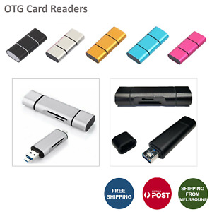 3 IN 1 Portable Memory Card Reader Hub USB 3.0 Type C Micro SD OTG Adapter New