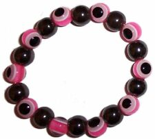 EVIL EYE Protection MAGNETIC HAEMATITE & GLASS BEAD BRACELET Gemstone HEMATITE p