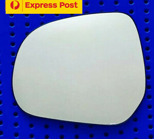 Left mirror glass to suit OPEL AGILA 2008 onward Heated Convex with base