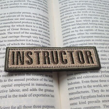 INSTRUCTOR ARMY TACTICAL MILITARY BADGE 3D EMBROIDERED SWAT ISAF PATCH