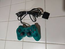 Sony DualShock 2 PS2 Controller Emerald Green Clear Good Condition