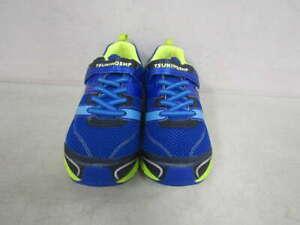 Tsukihoshi Kid's US 3 Velocity Sneakers Royal Blue/Lime Green 3580-415-Y