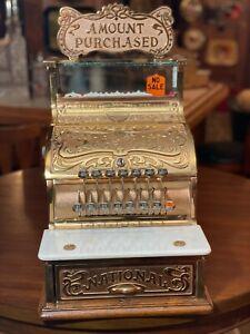 Antique National Cash Register 130  w / Original Top Sign