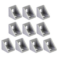 10pcs Grey Aluminum 90 Degree L Shape Corner Joint Brace Right Angle Bracket New