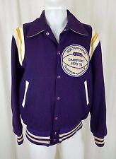Vintage 1970s Wool Varsity Football Jacket Norton High Champions 73-74 Mens M L