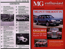 MG Enthusiast Magazine July 1984 (1.6) NAYLOR TF 1700 TEST plus Naylor interview