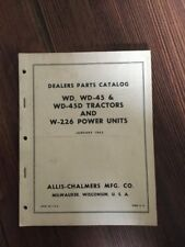 AC Original 1965 ALLIS CHALMERS Wd Wd-45 Wd-45d And W-226 Parts Catalog