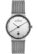 SKAGEN Ladies 355SSS1 Silver Stainless Steel MESH STRAP Watch with Date NEW