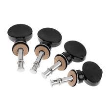 Tuners Friction Ukelele Ukulele Strings Tuning Pegs Pin Machines 4Pcs Black