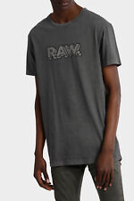 G Star Raw Maksso Relaxed Jersey T Shirt Mens XXL Gray w/ RAW Name NWT $60