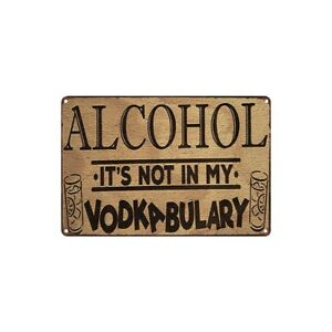 Metal Tin Sign alcohol vodka bulary  Decor Bar Pub Home Vintage Retro Poster