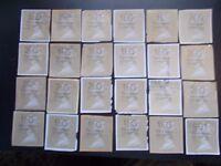 24 Assorted GB Gold Horizon Machin Labels, Kiloware Stamps~on paper~H15~ UK
