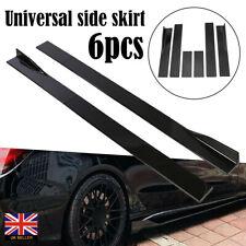 """Black 86"""" Universal Car Side Skirt Extension Rocker Panel Splitter Protector Lip"""