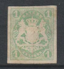 Germany (Bavaria) - 1867/9, 1k Yellow-Green - 4 Margins - M/M - SG 34