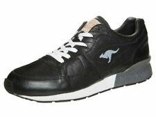 KangaROOS Coil R1 Leather Black White - 8UK 9US 42EU